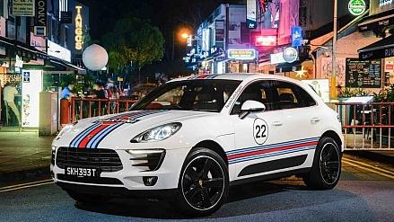 Porsche Macans Embellishes Singapore Urban Streetscapes