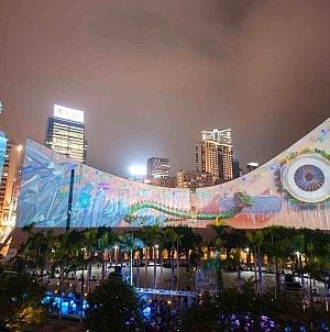 New Symphony of Lights & Winter Hong Kong Pulse Light Show Unveiled